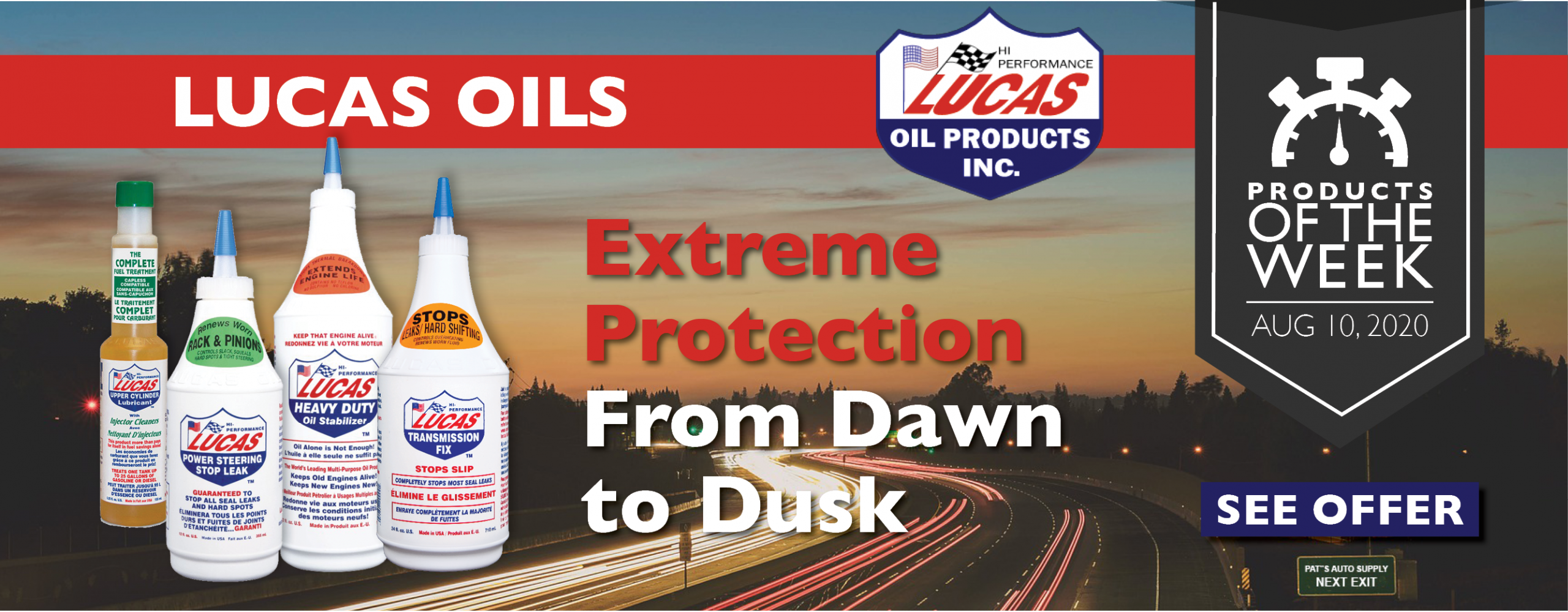 Pat's Products of the Week - Lucas oils - August,10 2020