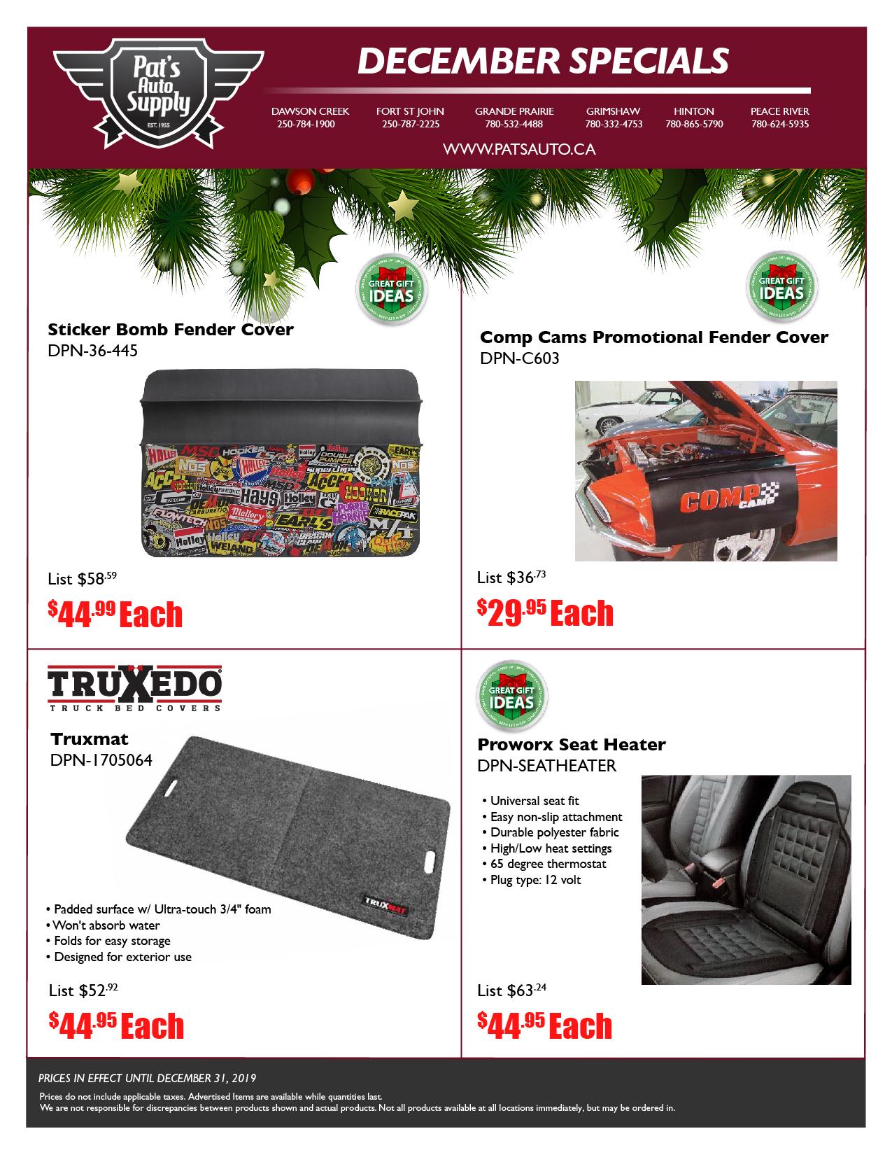 Pat's Auto Supply flyer